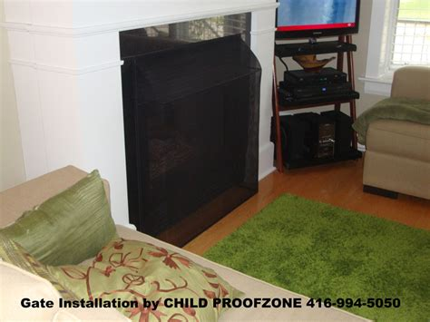 baby proof fireplace screen toronto child safety child proofzone baby proofing