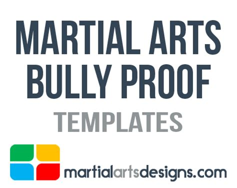 bully ology how to use martial arts to stand up for yourself defeat bullies and show the world what you can do books martial arts bully proof templates