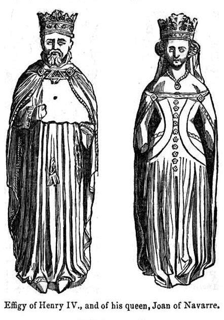 Drawings of the effigies of Henry IV and his queen, Joan