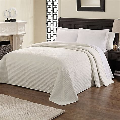 double bed coverlets buy french tile queen bedspread in white from bed bath