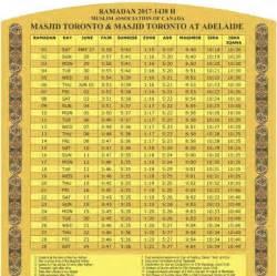 Calendar 2018 Ramadan Toronto Ramadan Calendar 2018