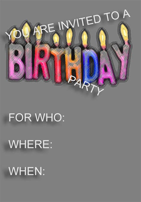 free birthday invites templates free birthday invitation template