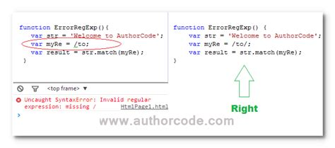 pattern with slash in javascript how to prevent your javascript code from syntax errors