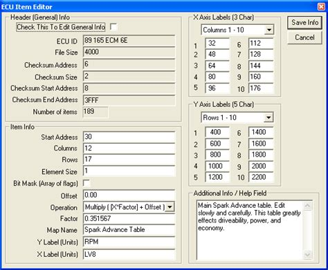 ecu cus map the basics of creating an ecu file from a hack