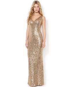 lauren ralph lauren v neck sequined gown dresses women