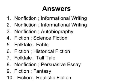 Genre And Subgenre Worksheet 2
