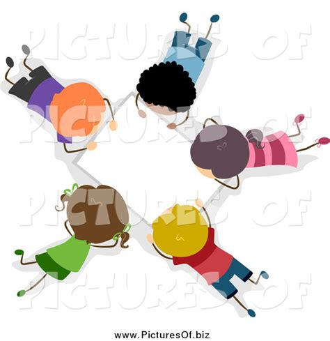 students working in groups clip art vector clipart of an aerial view of diverse stick students