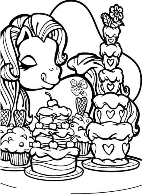 my little pony cake coloring page 49 best images about coloring page little pony on