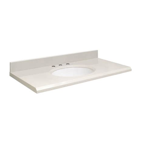 quartz bathroom vanity top shop transolid milan white quartz undermount single
