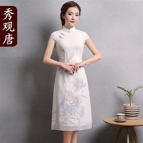 Cheongsam Dress White pretty modern white qipao cheongsam dress qipao
