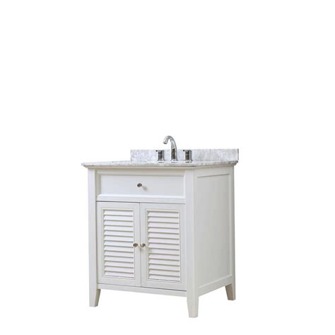 direct vanity sink shutter 32 in vanity in white with