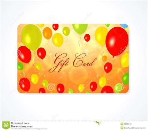 Red Balloon Gift Card - gift card discount card business card balloon stock images image 32080134