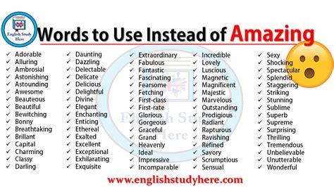 words   insteaf  amazing english study