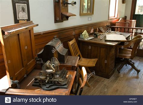 old fashioned office desk illinois rockford wooden desk with ledger typewriter old
