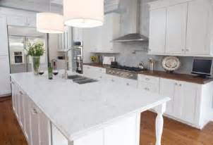 White Kitchen Cabinets With Marble Countertops by Stillwater Story Granite Vs Butcher Block Round 1 301