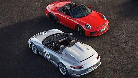 2020 Porsche Speedster by 2020 Porsche 911 Speedster Priced At 274 500 In The U S