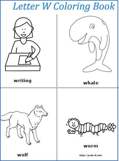 letter w coloring pages preschool letter w coloring pages and preschool on pinterest