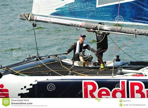 boat terms skipper red bull sailing team skipper steering boat at extreme