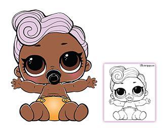Lol L O L Doll Lil Dj lil dj coloring page lol doll coloring pages