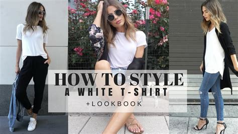 changing your fashion style to look great as a young gray haired woman how to style a basic white t shirt look book youtube