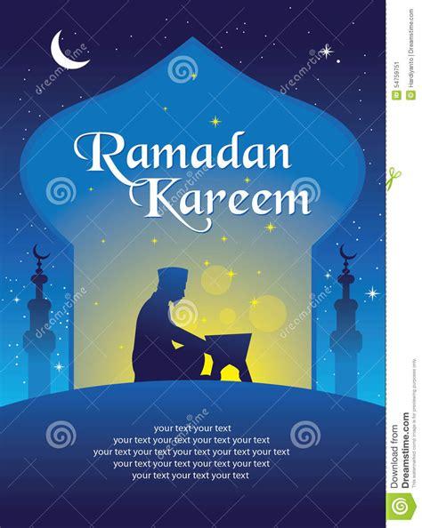 ramadan card templates ramadan kareem greeting card template stock vector image