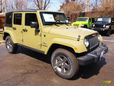 commando green jeep commando green 2013 jeep wrangler unlimited oscar mike