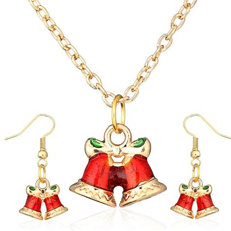 christmas necklace and earrings set