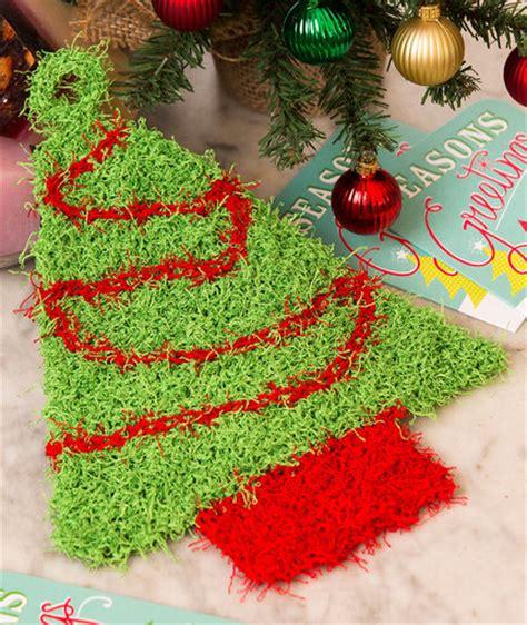 christmas tree duo crochet pattern red heart christmas tree scrubby red heart