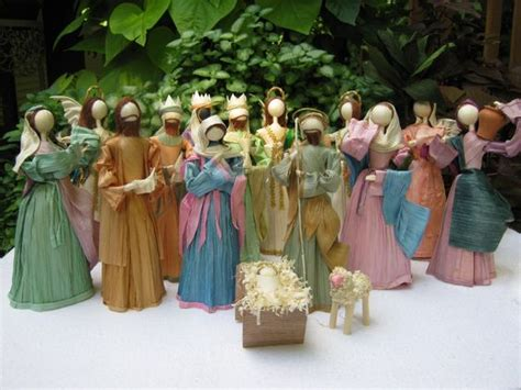 corn husk doll nativity set something and more crafts and gifts nativity