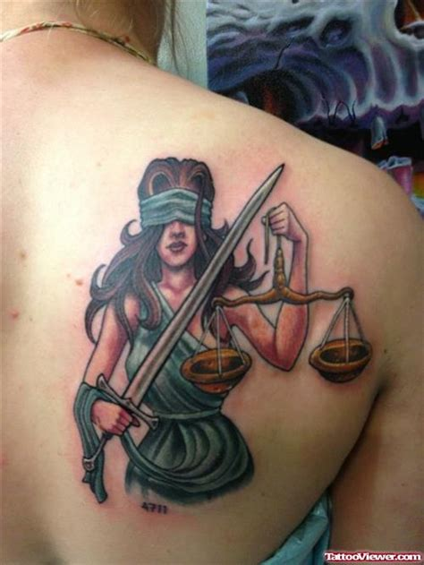 vire tattoos designs lawyer with tattoos color ink blind justice