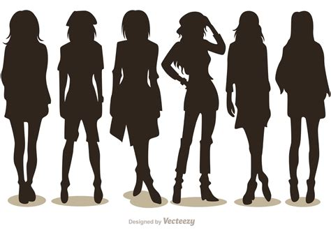 silhouette fashion vectors pack 2 free