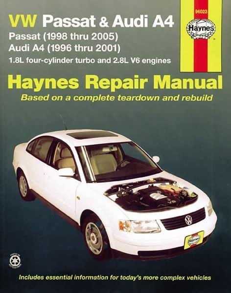 old car owners manuals 1996 audi a4 electronic valve timing haynes volkswagen audi reparasjonh 229 ndbok passat a4 95 thru 05 usa haynes