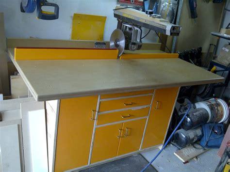 radial arm saw bench radial arm saw cabinet by matt12874 lumberjocks com