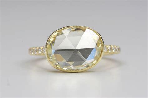 yellow rose cut diamond ring at 1stdibs