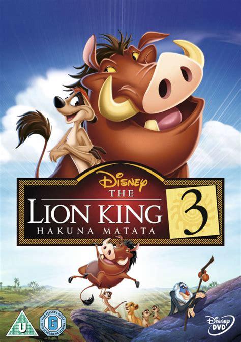 full film lion king 2 the lion king 3 hakuna matata dvd zavvi