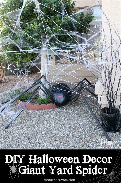 diy halloween yard decor giant spider in spiderweb