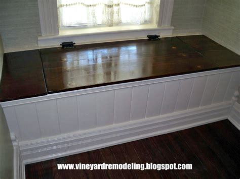 built in bench seating with storage vineyard remodeling restorations adding a window seat