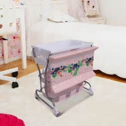 Baby Changing Table With Storage Baby Infant Rolling Changing Table Unit Storage Station Pad Tray Bath Tub Pink Ebay