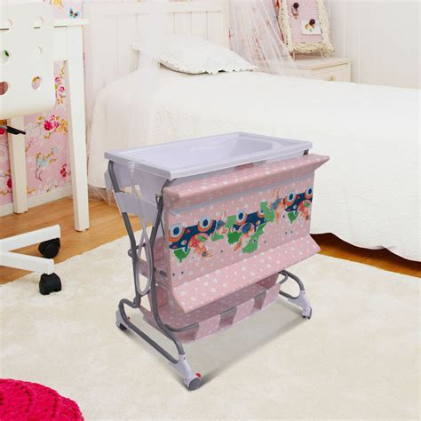 Baby Change Table With Bath And Storage Baby Infant Rolling Changing Table Unit Storage Station Pad Tray Bath Tub Pink Ebay