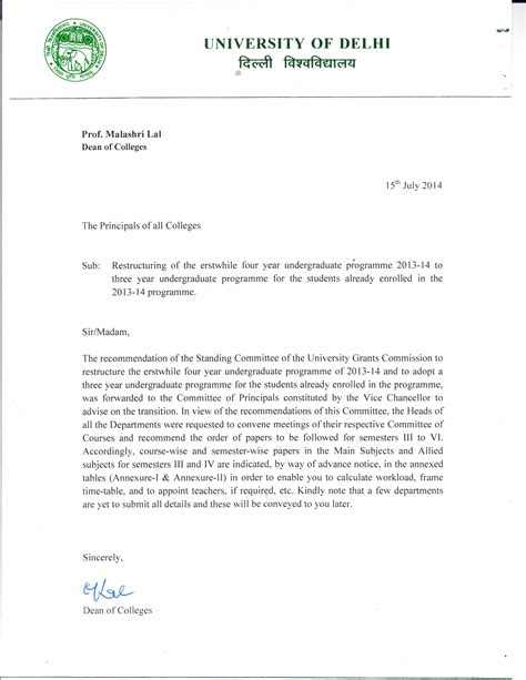 Admission Request Letter Sle