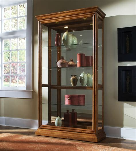 golden oak doors golden oak two way sliding door curio from pulaski 20544