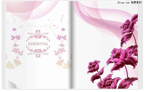 layered flower card template painted purple flower psd layered templates flower