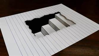How To Draw 3d Stairs On Paper by How To Draw 3d Steps In Line Paper Easy Trick Art For
