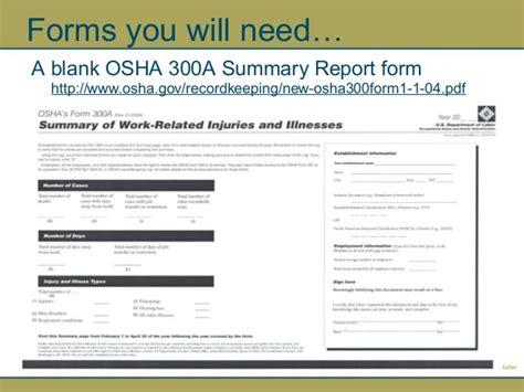 osha  log  summary report  npca