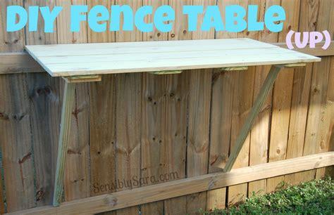 diy fence diy fence table