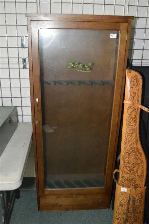 Place Glass Door Wooden Gun Cabinet Six Place W Glass Door