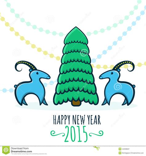happy new year goat happy new year 2015 year of goat vector illustration