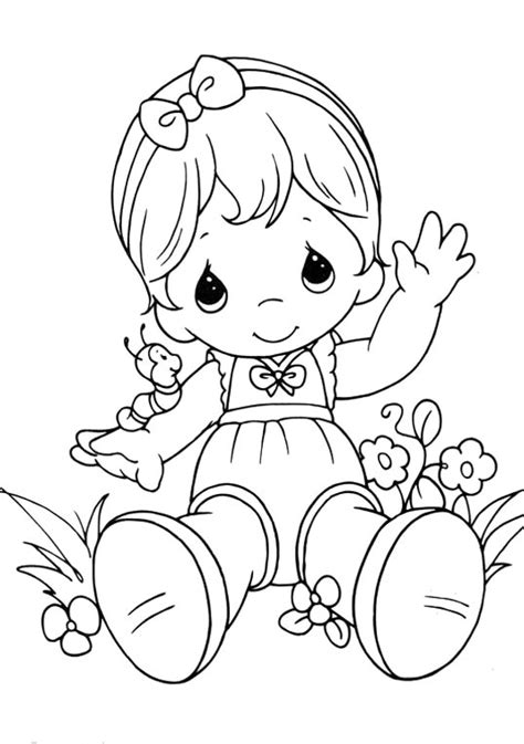 coloring page of baby girl coloring pages for baby girls color bros