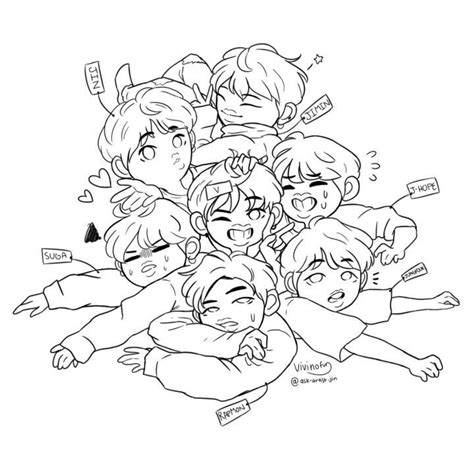 Bts V Coloring Pages by Bts Anime Coloring Pages 28 Anime Vkook Fanart