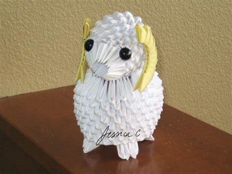 3d Origami Sheep - 3d origami by jchau on deviantart